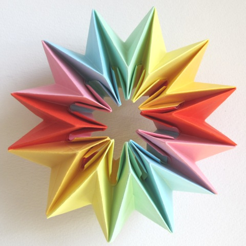 Origami Fireworks - Easy Origami Magic Circle Fireworks - Paper ... | 480x480