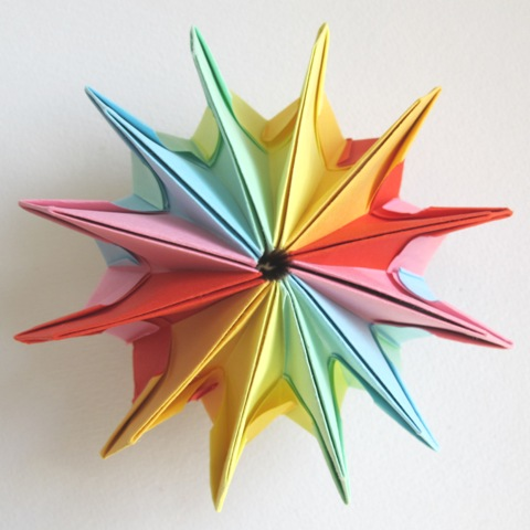 DIY How To Fold an Easy Origami Magic Circle Firework Fun Paper ... | 480x480